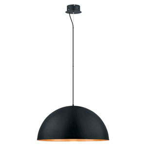 Gaetano LED 31-Inch Black and Gold One-Light Pendant