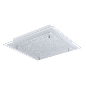 Priola LED 15-Inch Matte Nickel One-Light Flushmount