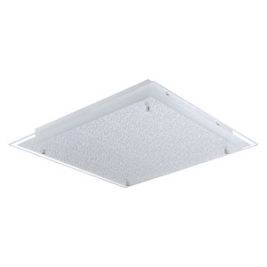 Priola LED 20-Inch Matte Nickel One-Light Flushmount