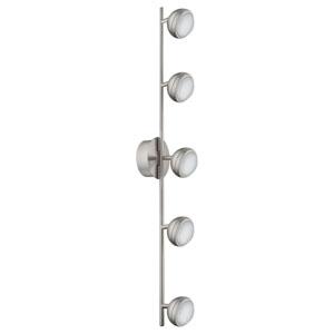 Lombes LED Matte Nickel Five-Light Track Light