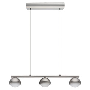 Lombes LED Matte Nickel Three-Light Pendant