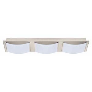 Wasao LED Matte Nickel Three-Light Bath Light