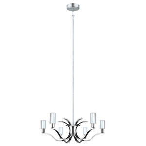 Varella LED Chrome Six-Light Chandelier