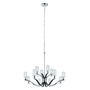 Varella LED Chrome 12-Light Chandelier