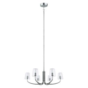 Noventa LED 28-Inch Chrome Six-Light Chandelier