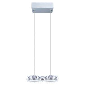 Corliano LED Chrome Two-Light Mini Pendant