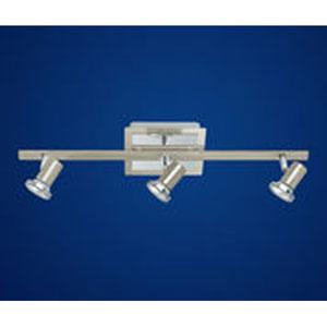 Rottelo Matte Nickel/Chrome Three Light Directional Spotlight