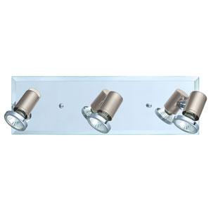 Tamara 1 Matte Nickel and Chrome 17-Inch Three-Light Track Light