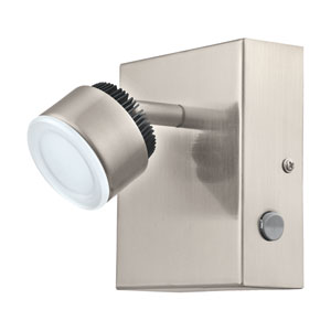 Armento 1 Matte Nickel 4.5-Inch One-Light LED Wall Track Light