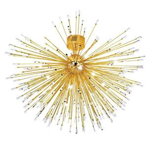 Vivaldo Gold Plated 35-Light Flushmount