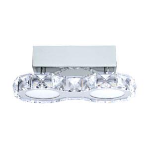 Corliano LED Chrome Two-Light Flushmount