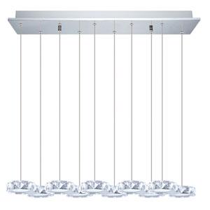 Corliano LED Chrome 10-Light Pendant