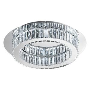 Corliano LED Chrome Circle Eight-Light Flushmount