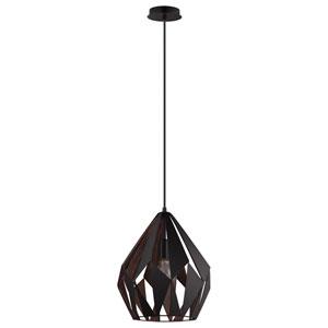 Carlton Black and Copper One-Light Pendant