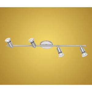 Buzz Matte Nickel and Chrome Four-Light Directional Spotlight