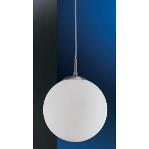 Rondo Matte Nickel One-Light Mini Pendant