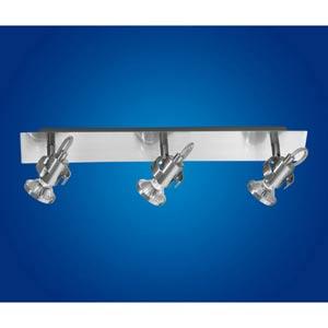 Tukon 1 Matte Nickel Three-Light Directional Spotlight