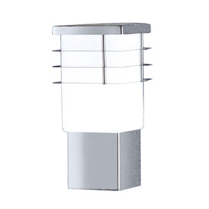Calgary Stainless Steel One-Light Outdoor Wall Sconce with Opal Frosted Glass