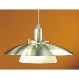 Brenda Matte Nickel One-Light Dome Pendant