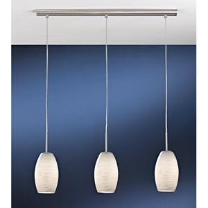 Batista 1 Matte Nickel Three-Light Island Pendant