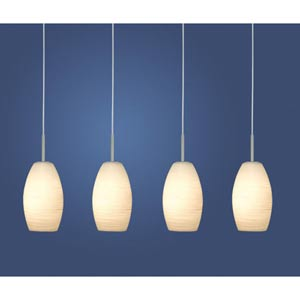 Batista 1 Matte Nickel Four-Light Island Pendant