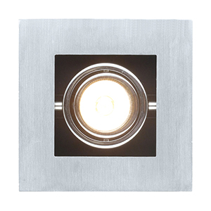 Loke Brushed Aluminum, Chrome and Black One Light Track Lighting