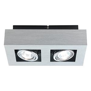 Loke Brushed Aluminum, Chrome and Black Three Light Track Lighting