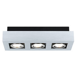 Loke Brushed Aluminum Three-Light Track Light