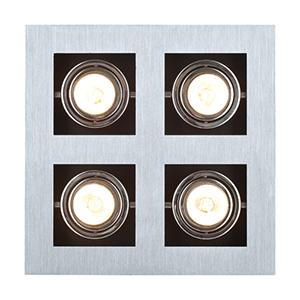 Loke Brushed Aluminum, Chrome and Black One Light LED Track Lighting