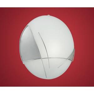 Raya Chrome Satin One-Light Wall/Ceiling Light