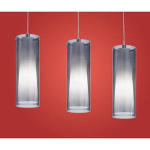 Pinto Nero Chrome Three-Light Island Pendant