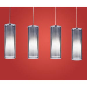 Pinto Nero Chrome Four-Light Island Pendant