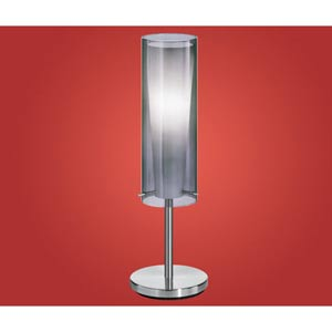 Pinto Nero Chrome One-Light Table Lamp