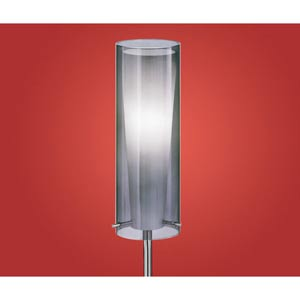 Pinto Nero Chrome One-Light Floor Lamp