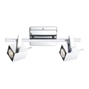 Manao Chrome Two-Light Track Light