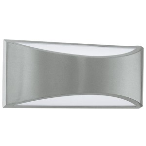 Volpino Silver 11.38-Inch LED Outdoor Wall Sconce