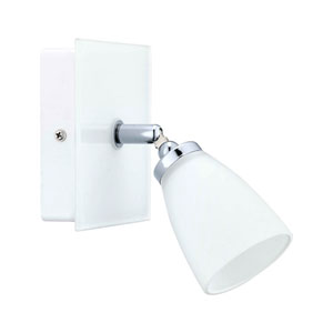 Katoro White and Chrome One-Light Bath Light