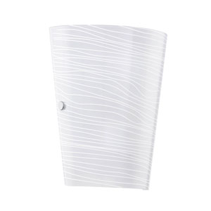 Caprice White 7.25-Inch Wide Wall Sconce w/ Striped Satinated Glass