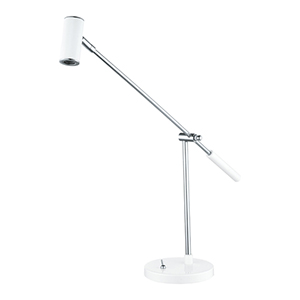 Lauria 1 Glossy White and Chrome One Light LED Table Lamp