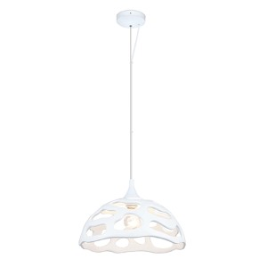 Anzino Glossy White 15-Inch One-Light Dome Pendant