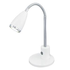 Fox White and Chrome One-Light Desk Lamp