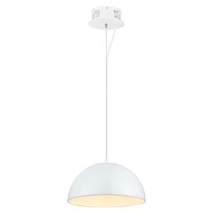 Gaetano Glossy White One Light LED Pendant