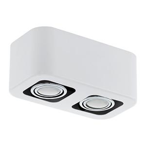 Toreno 1 Glossy White and Chrome Two Light Track Lighting
