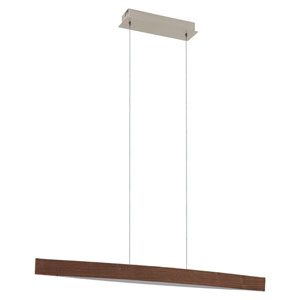 Fornes LED Walnut Effect One-Light Pendant