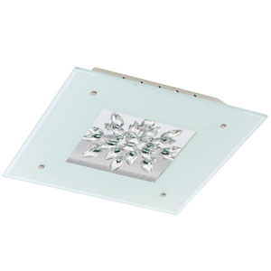 Benalua White with Clear Trim 18.5-Inch One-Light LED Flush Mount