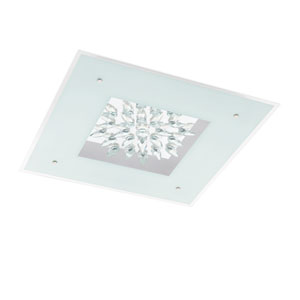 Benalua White with Clear Trim 22.5-Inch One-Light LED Flush Mount