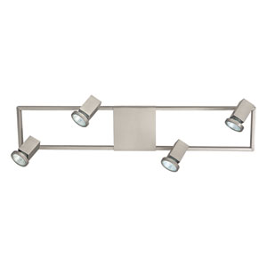 Zeraco Satin Nickel 27.5-Inch Four-Light Track Light