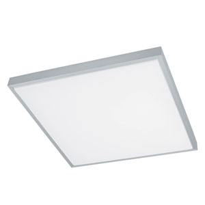 Idun 1 Brushed Aluminum 23-Inch One-Light LED Square Flush Mount