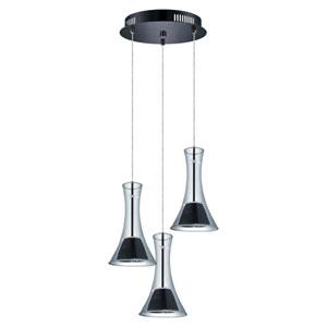 Musero Matte Nickel 14-Inch Three-Light LED Pendant