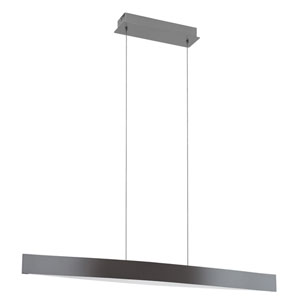 Fornes LED Black and Chrome One-Light Pendant